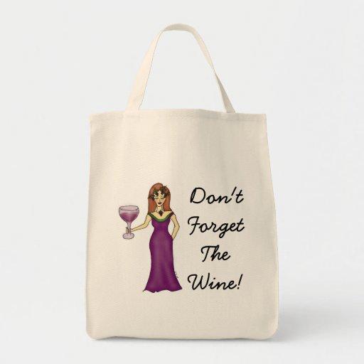 "La diosa del vino ""no olvida el vino!"" Bolso de co Bolsas"