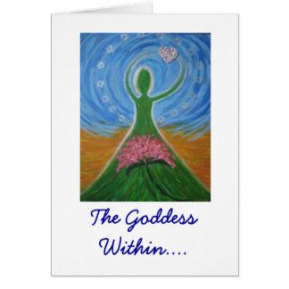 La diosa dentro tarjeta de felicitación