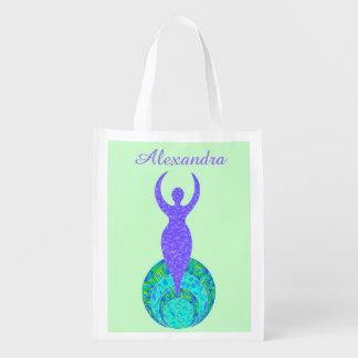 La diosa Eco personalizado nueva edad amistoso Bolsas Para La Compra