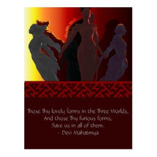 La diosa triple tarjetas postales