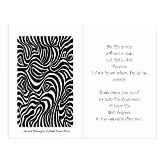 La dirección de la vida tarjeta postal