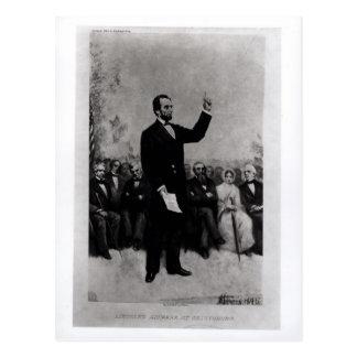 La dirección de Lincoln en Gettysburg, 1895 Postal