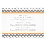 La dirección del boda carda Chevron gris anaranjad Comunicado