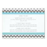 La dirección del boda carda el gris azul Chevron Invitación 8,9 X 12,7 Cm