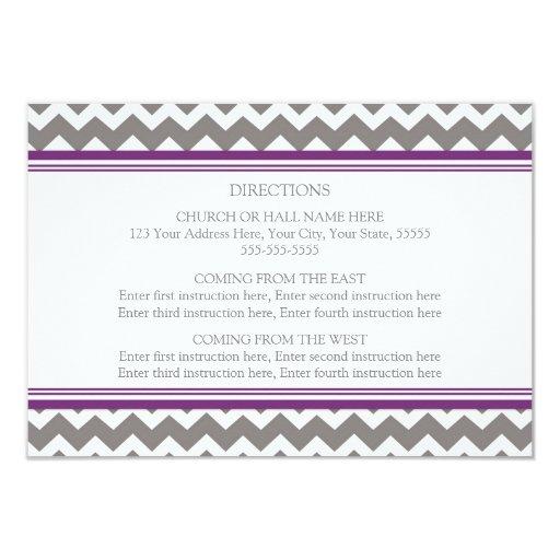 La dirección del boda carda el gris Chevron del Invitación 8,9 X 12,7 Cm