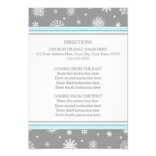 La dirección del boda del invierno carda nieve gri comunicado personalizado