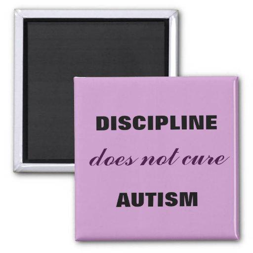 La disciplina hace no autismo lindo imán para frigorífico