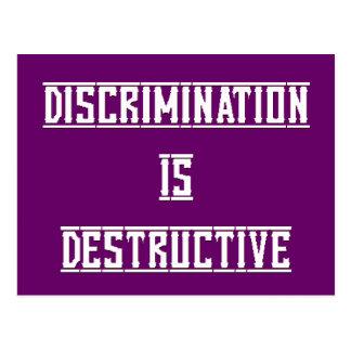 La discriminación es postal destructiva