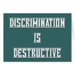 La discriminación es tarjeta de felicitación en bl