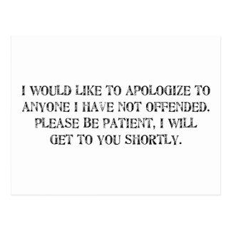 la disculpa postal