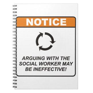 ¡La discusión con el asistente social puede ser in Libretas Espirales