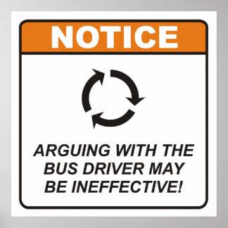 ¡La discusión con el conductor del autobús puede s Póster