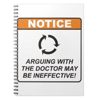 ¡La discusión con el doctor puede ser ineficaz! Libretas Espirales