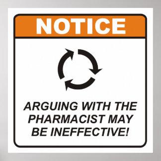 ¡La discusión con el farmacéutico puede ser inefic Póster