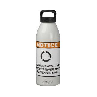 ¡La discusión con el programador puede ser inefica Botellas De Agua Reutilizables