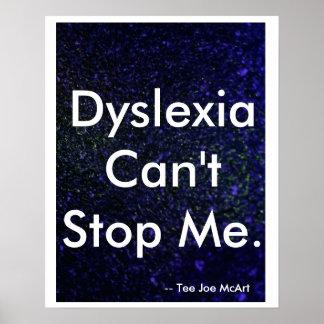 """La """"dislexia no puede pararme """" póster"""