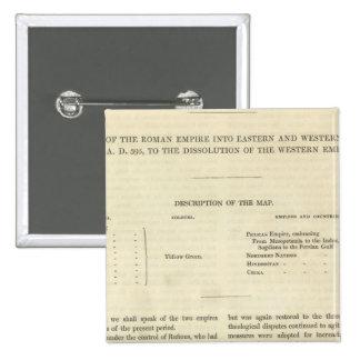 La disolución del ANUNCIO occidental del imperio 4 Pin Cuadrada 5 Cm