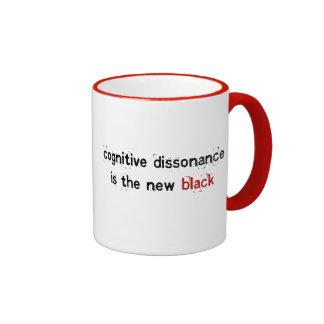 la disonancia cognoscitiva es el nuevo negro - taz taza de café