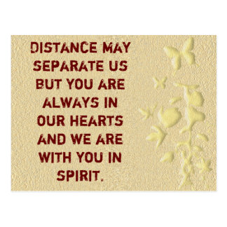 La distancia puede separar la nosotros-postal tarjetas postales