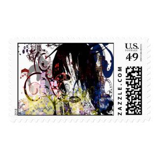 La diva de la moda remolinó sellos postales