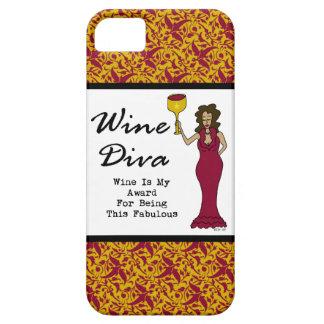"""La diva """"vino del vino es mi premio para ser fabul iPhone 5 fundas"""