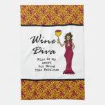 """La diva """"vino del vino es mi premio para ser fabul toallas de cocina"""