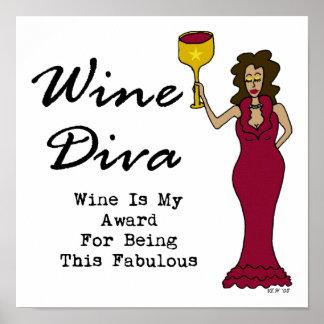 """La diva """"vino del vino es mi premio para ser póster"""
