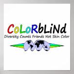La diversidad daltónica cuenta color de piel de lo posters
