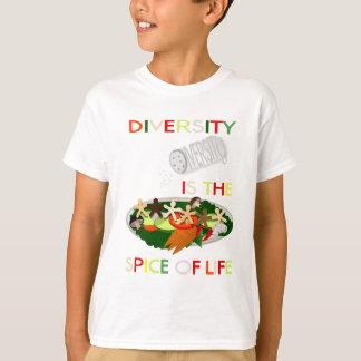 La diversidad es la especia de los niños de la polera