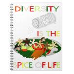 La diversidad es la especia del espiral de la vida libreta espiral