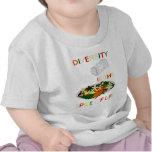La diversidad es la especia del niño de la vida camiseta