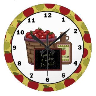 La diversión Apple da fruto reloj de pared de la c