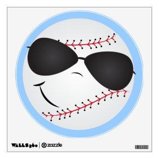 La diversión del béisbol del dibujo animado se div vinilo adhesivo
