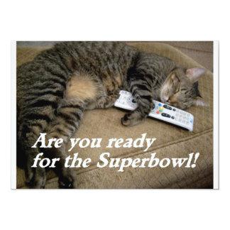 """la diversión del superbowl invita invitación 5"""" x 7"""""""
