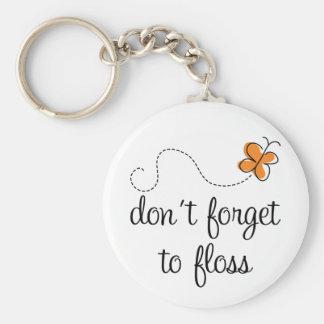 La diversión dental no olvida Floss el regalo del  Llavero Redondo Tipo Pin