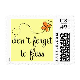 La diversión dental no olvida Floss el regalo del Franqueo