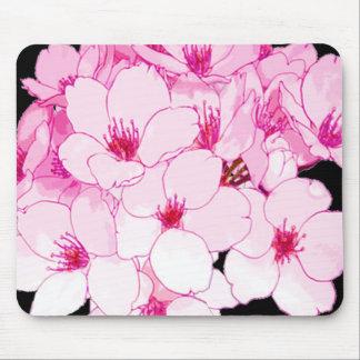 """La """"diversión diseña"""" rosa de la flor alfombrillas de raton"""
