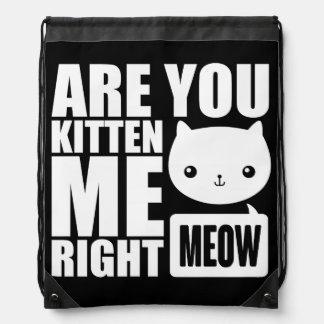 La diversión divertida es usted gatito yo mochila