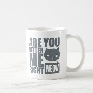 La diversión divertida es usted gatito yo taza