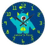 La diversión embroma la aguamarina azul extranjera reloj