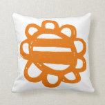 La diversión florece el amortiguador anaranjado almohadas