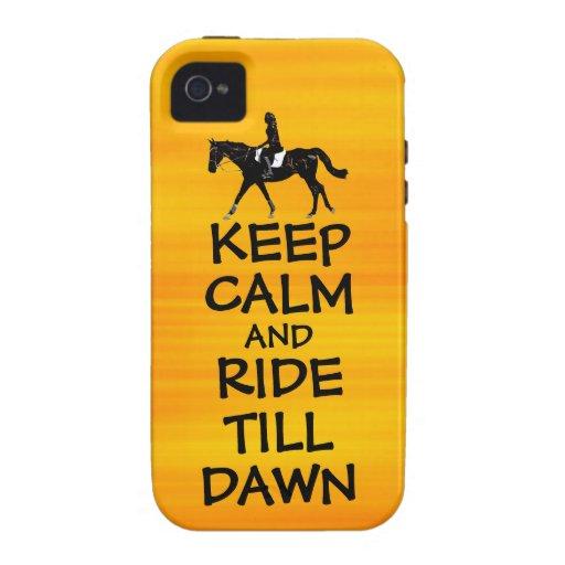 La diversión guarda calma y monta hasta caballo de carcasa para iPhone 4/4S