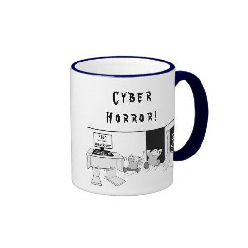 """La diversión """"H"""" está para el pirata informático ' Taza De Café"""