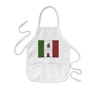 La diversión italiana de la cocina del cocinero delantal infantil