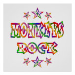 La diversión Monkeys la roca Impresiones