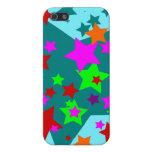 La diversión pegada estrella protagoniza el naranj iPhone 5 cárcasa