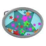 La diversión pegada estrella protagoniza el naranj hebilla cinturon