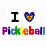 La diversión Pickleball colorido pone letras a Postales