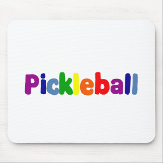 La diversión Pickleball colorido pone letras a Alfombrilla De Ratón