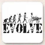 La diversión reclinada de la evolución de la bicic posavasos